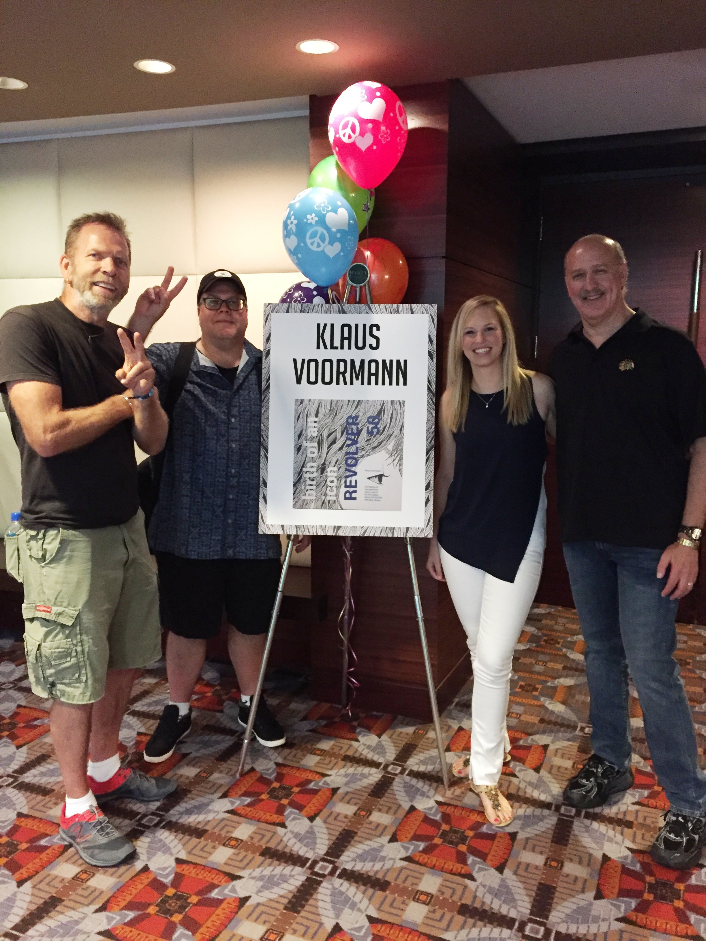 Jay, Gary, Becca and Jim at the Klaus Vorrmann book premier